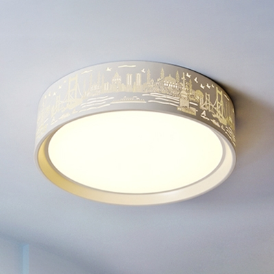 16.54'' W Modern Bedroom/Living Room Acrylic Round LED Ceiling Light