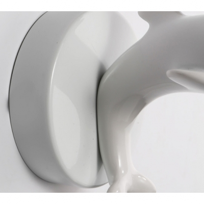 Dolphin Brushed Nickel 2 Light Kids Wall Sconce Bulb Enclosed