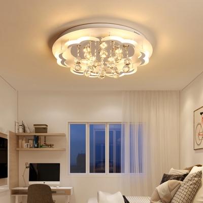 new style 95ea1 17800 Modern Led Flush Mount Light Crystal Ball Flushmount Ceiling Light for