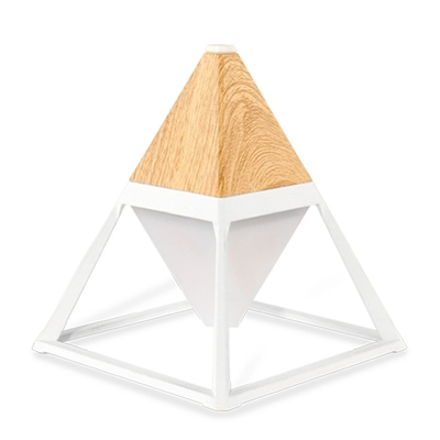 Nordic Style Pyramid Shape LED Reading Night Light Touch Switch with 4 Colors