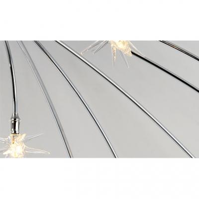 Sparkling Meteor Shower Shape Ceiling Chandelier Light in Brushed Nickle 12/18/21 Light