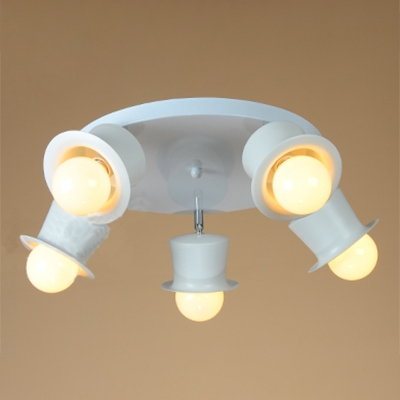 3/5 Light Ceiling Light Fixture with Round Metal Base