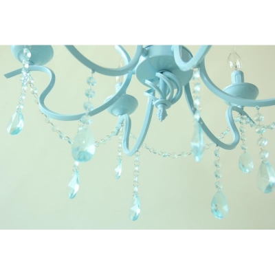 Contemporary Lighting 6/8 Light Kid Girls Ceiling Chandelier Crystal Tadpoles Chandelier Light