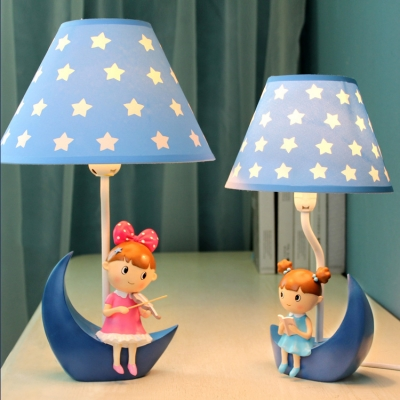 Adorable Star Design Table Light with Little Girls Decoration Bedroom