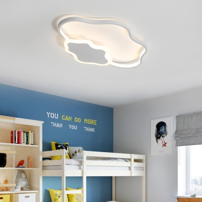 Modern Simple Children Bedroom Led Ceiling Light Clouds Shape 2 Options Available