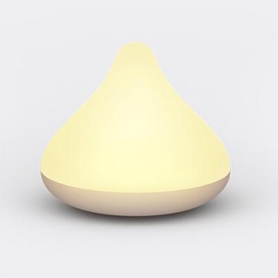 Portable Mini Plastic Cone Shape LED Night Light in White/Pink