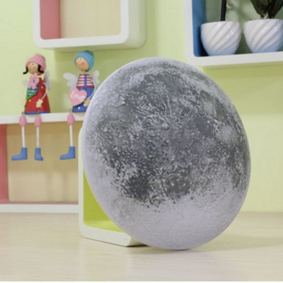 Ultra-thin Plastic Stick Anywhere Spherical Wall Night Light with Moon Design