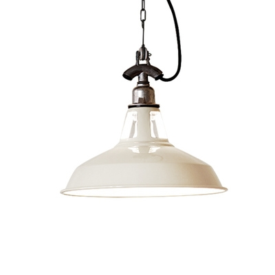 Vintage Dining Room Single Head Hanging Pendant Light in Matte Black/White Finish