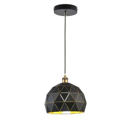 Single Light Satin Brass Restaurant Pendant Lamp 8.27