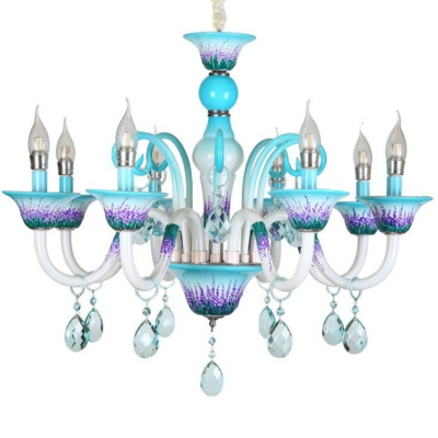 Bathroom Dining Room Chandelier French Country Small Candle Chandelier with Crystal Tadpoles