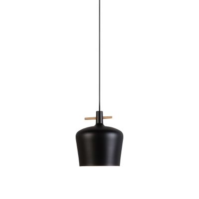Contemporary Style One Bulb Coffee Shop Bar Hanging Light in Black/White Finish