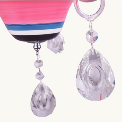 Girls Chandelier Candle Style Crystal Light Chandelier with Sparkling Twinkle Toes