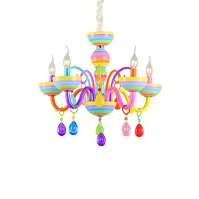 Modern Chandelier Light Dining Room Light Crystal Ball Candle Chandelier Lamp for Kids