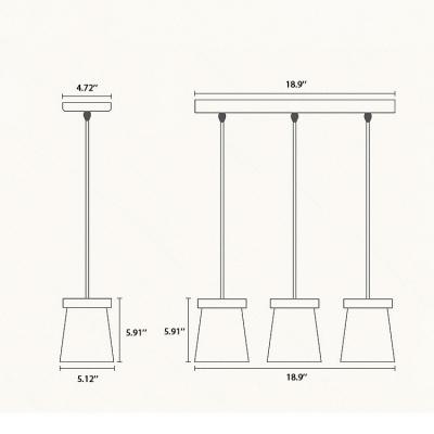 Polished Black Finish Metal Shade Mini Pendant Lamp for Hallway 5.12