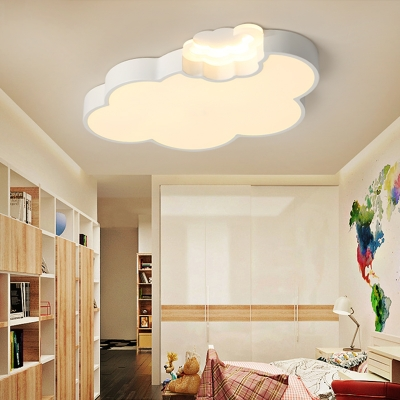 Quique Acrylic Kids Room LED Ceiling Lamp Cloud Shape
