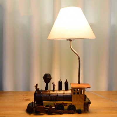 Retro Style Transportation Table Lamp Fabric 1 Head Standing Table Light for Children Bedroom