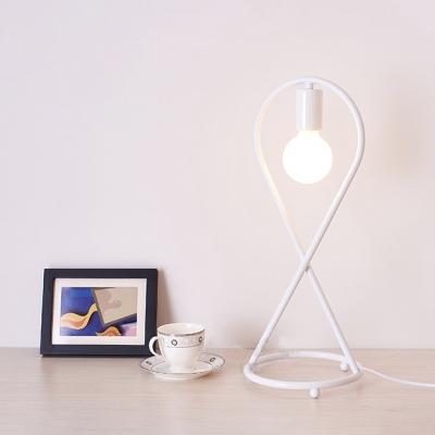 Modern Style Mini Fish Bracket 1-Bulb Mini Table Lamp