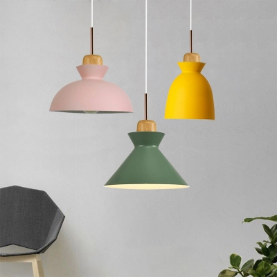 Multiple Colors Restaurant Dining Room Ceiling Pendant Light in Nordic Simple Style