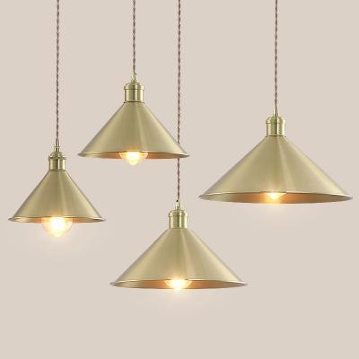 Simple Style Antique Brass Finish, Brass Pendant Lamp