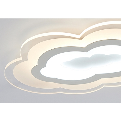 Cloud LED Kids Flush Mount Ceiling Light 2 Options Available