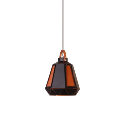 Special Designed Coffee House Hanging Pendant with Cowhide Accent Shade