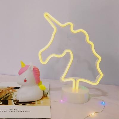 New Unicorn Neon Light Battery Operated/USB Kids Night Light in Plastic