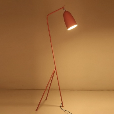 Metal Tripod Floor Light Contemporary Macaron Study Room Kids Room 1 Head Floor Lamp