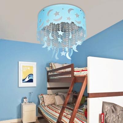 Moon Star Crystal Hanging Light Fixture