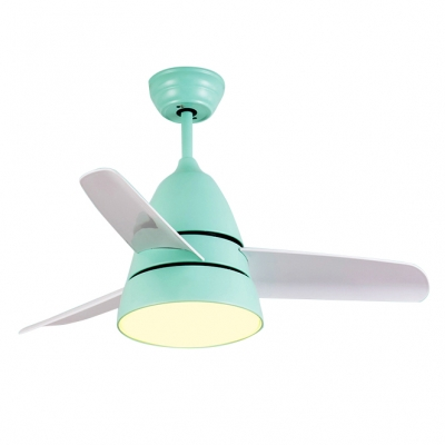 10.24'' W Inch Frequency Conversion Ceiling Fan Light Macaroon Style in Light Green
