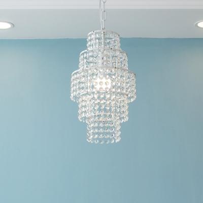 Bathroom Kitchen Girls Bedroom Crystal Empire Pendant Chandelier in