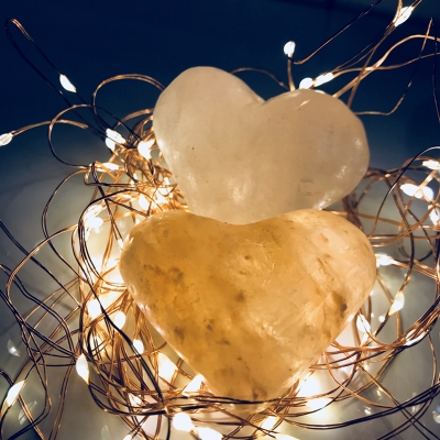 Button Switch Modern Style Himalayan Salt Crystal Night Lamp