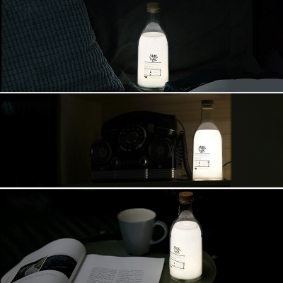 Rechargeable Creative Bottle Shade Bed Night Light Portable