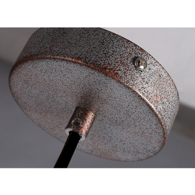 Weathered Bronze Finish Industrial Style Barn Shade Hanging Lamp for Cafe 11.42