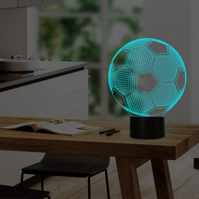 Wireless Touch/Remote Acrylic 3D Soccer/Globe Boys Room Night Light