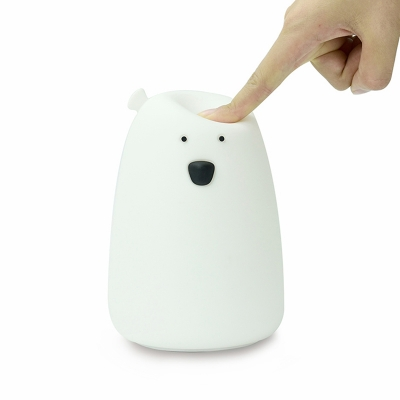 Cartoon Polar Bear Night Light Sleeping Lamp Battery-Operated/Rechargeable in Pink/Blue/White