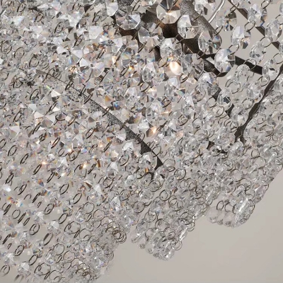 French Pendant Chandelier Vintage Crystal Empire Chandelier Light for Bedroom Living Room
