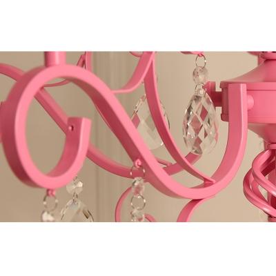 Modern Pink Chandelier Foyer Lighting Crystal Chandelier Candle Chandelier Tadpoles Chandelier