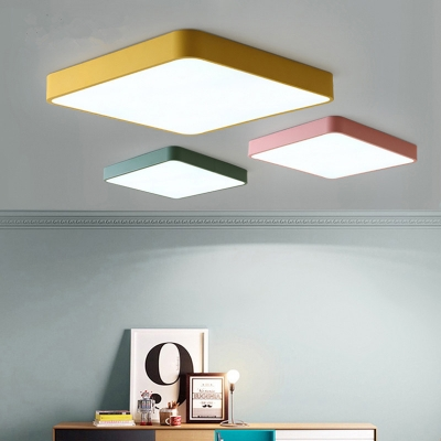 f968bd4a2e77 Ultra Thin Square Ceiling Lamp Simplicity Kids Room Colorful Acrylic Flush  Mount Lighting ...