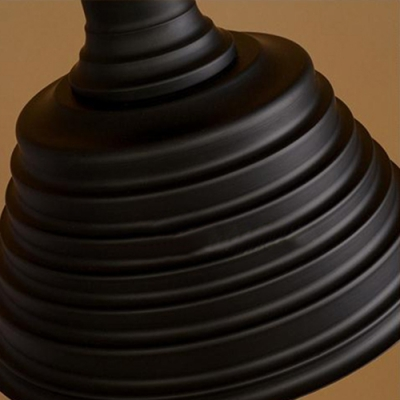 Ribbed Black Shade 13.78