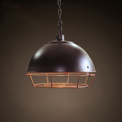 Retro Style Metal Cage Pendant Lamp for Bedroom 2 Colors for Option