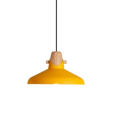 Contemporary Simple Style One Light Dining Room Hanging Pendant in Various Colors
