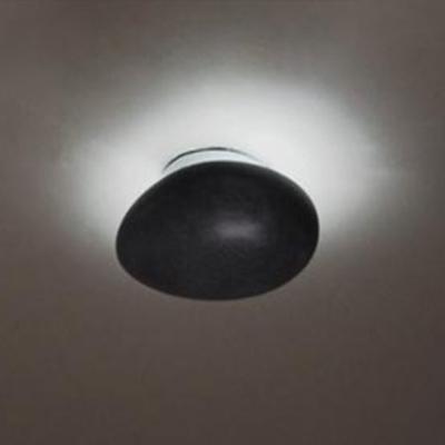 Gracefully Black Stone Designer Flush Mount Ceiling Light