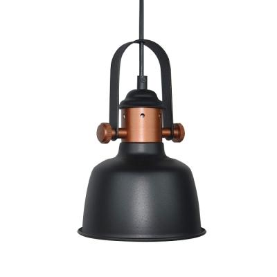 the best attitude 00cf4 7c401 Satin Black/White Finish One Bulb Copper Pendant Lamp in Simple Style