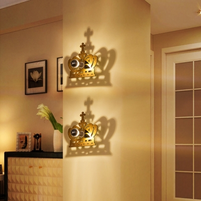 Gold Crown Shape Ambient Light LED Wall Lamp for Coffee house 9.84