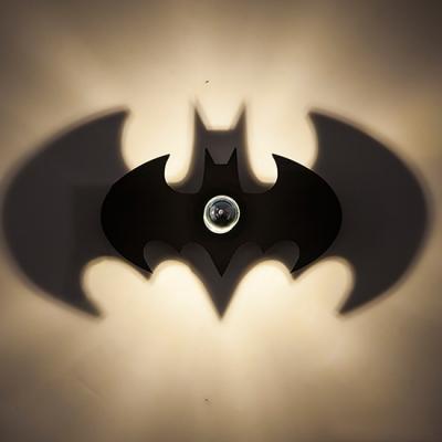Matte black Ambient Light Bat Shape Wall Sconce for Living Room 2 Types for Option