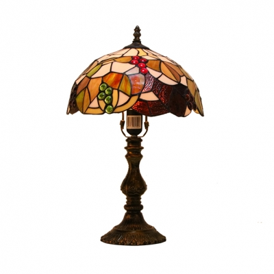 Country Style 12 Inch Wide Tiffany Living Room Table Lamp with Brilliant Jewels