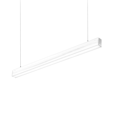 Modern Simple Style PVC Lampshade Slim Led Linear Fixture 14W-28W Led High Performance Suspended Light with 120cm Adjustable Cord