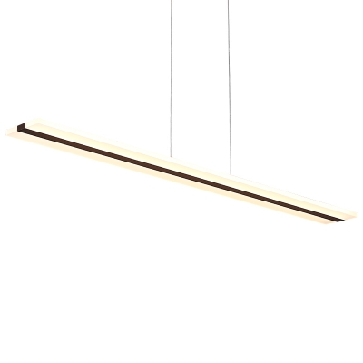 Modern Led Linear Pendants Acrylic Chandelier Lighting 36W/48W Anti-Glare Led Island Lights for Kitchen Dining Room Office Study Room