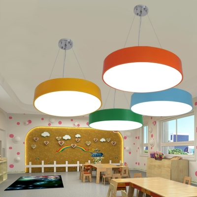 Modern Globe Commercial Led Lighting Multicolors Metal Acrylic LED Round Chandelier  Suitable for Office Gallery Hallway Bedroom 4 Sizes Available