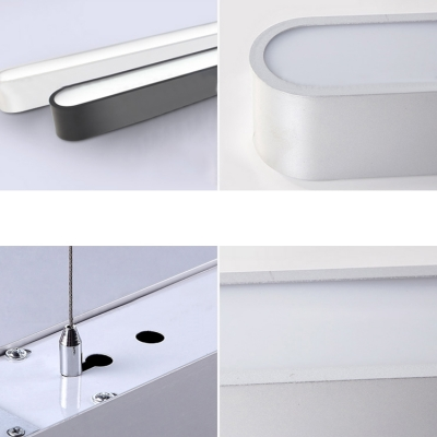 Silver Finish Round Corners and Linear Frame 48